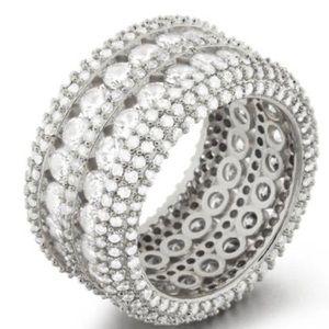 Gorgeous Bling Rhodium Ring